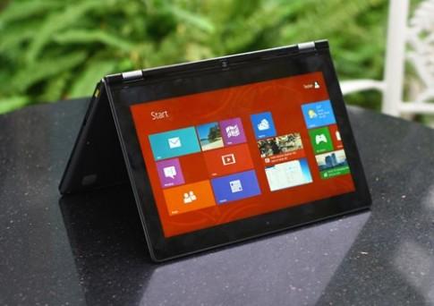 Ảnh thực tế laptop màn hình xoay ngược của Lenovo tại VN