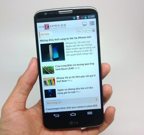 Ảnh thực tế LG G2 bản quốc tế tại Việt Nam