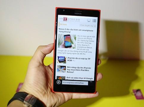 Ảnh thực tế Nokia Lumia 1520 tại Việt Nam