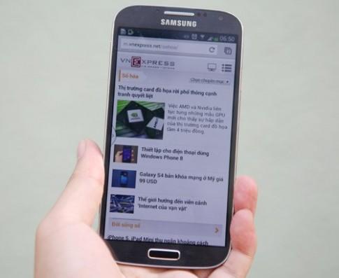 Ảnh thực tế Samsung Galaxy S4 tại TP HCM