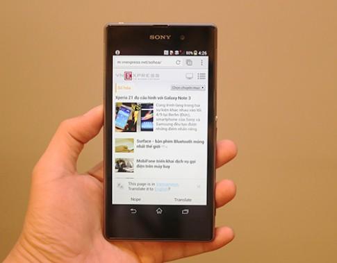 Ảnh thực tế Sony Xperia Z1