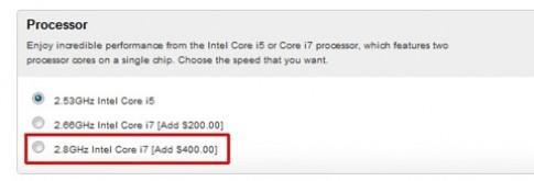 Apple 'âm thầm' nâng cấp Macbook Pro lên Core i7