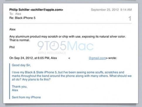 Apple: 'iPhone 5 tróc vỏ là bình thường'