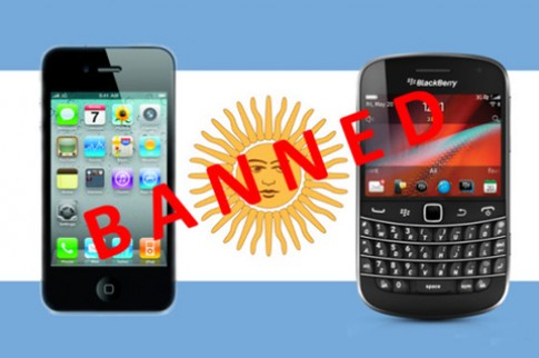 Argentina 'cấm cửa' iPhone và BlackBerry
