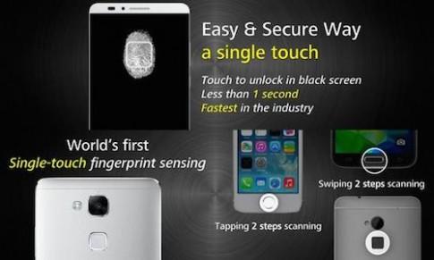 Ascend Mate 7 nhận diện vân tay nhanh hơn iPhone 5S và Galaxy S5