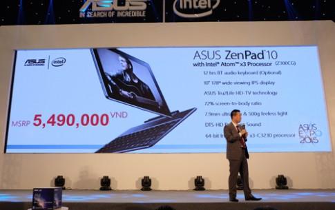 Asus ZenPad 10 ra mắt với giá 5,49 triệu đồng