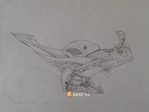 Bản vẽ Yamaha R15 đến từ một biker đam mê Thái Lan