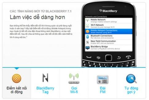 BlackBerry chính hãng lên OS 7.1