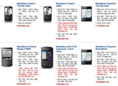 BlackBerry Passport chính hãng giảm thêm 1 triệu đồng