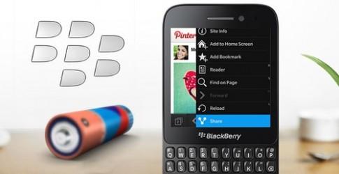 BlackBerry Q5 nằm trong top điện thoại chơi video lâu nhất
