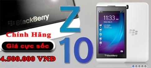 BlackBerry Z10 giảm giá xuống còn 4,5 triệu đồng