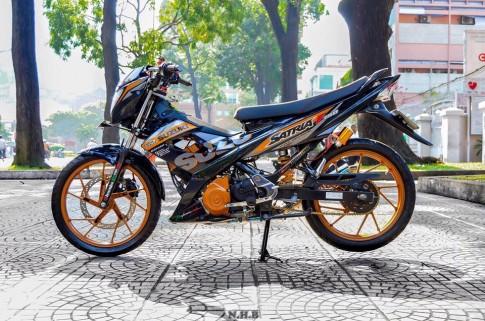 Bộ ảnh tinh tế về vẻ đẹp của chiếc Suzuki raider độ kiểng .