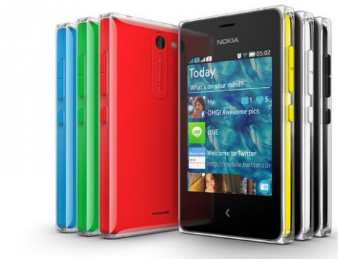 Bộ ba điện thoại cảm ứng giá rẻ Nokia Asha mới