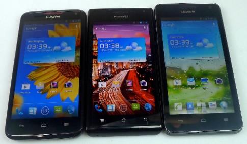 Bộ ba smartphone Androidcủa Huawei sắp bán tại VN