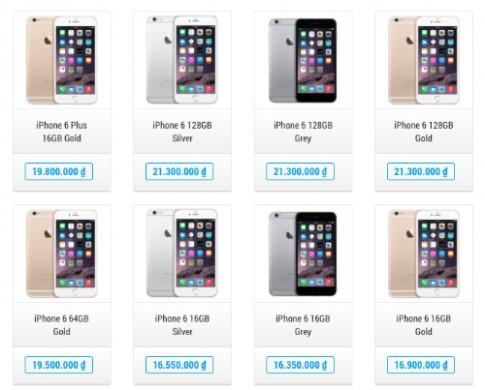 Bộ đôi iPhone 6 hàng 'xách tay' giảm giá sâu, bán chậm