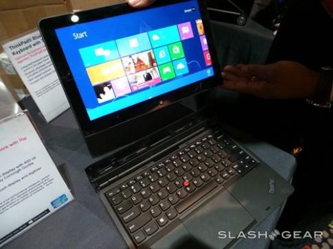 Bộ đôi laptop Windows 8 bàn phím rời và màn hình lật của Lenovo