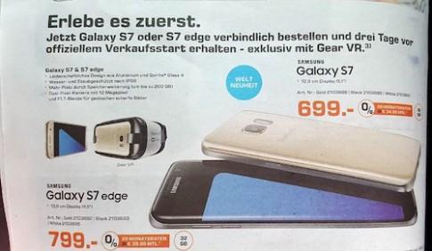 Bộ đôi Samsung Galaxy S7 lộ giá bán