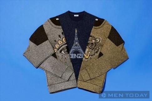 Bộ sưu tập sweaters nam với họa tiết độc đáo của Kenzo