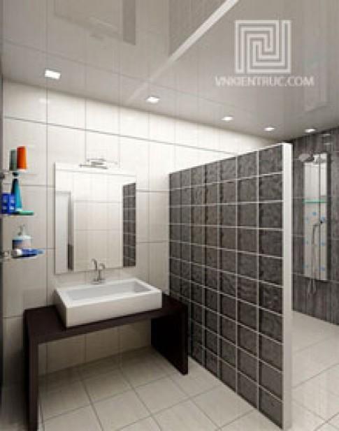 Bố trí phòng tắm theo diện tích