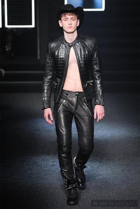 BST thời trang nam thu đông 2014 đậm chất cao bồi của Philipp Plein | MFW