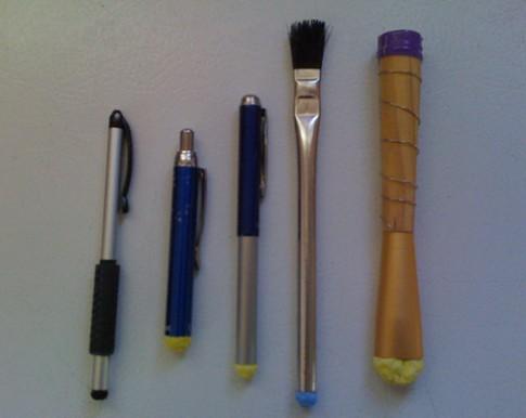 Bút stylus tự tạo cho màn hình cảm ứng điện dung