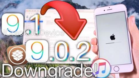 Cách hạ cấp xuống iOS 9.0.2 để jailbreak