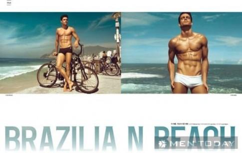Caio Cesar khoe cơ thể khỏe khoắn trên bãi biển của Brazil