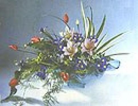 Cắm hoa theo chủ đề muôn hồng ngàn tía