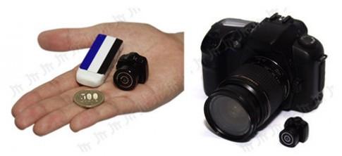 Camera thay ống kính nhỏ hơn cục tẩy