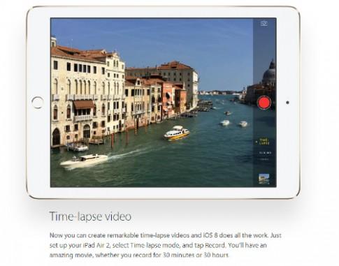 Camera trên iPad Air 2 chụp ảnh đẹp như iPhone 6