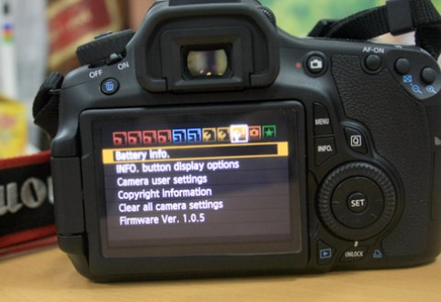 Canon 60D được nâng cấp firmware v1.0.9