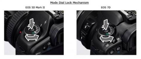 Canon cho thay bánh xe chế độ trên 7D và 5D Mark II