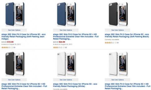 Chưa ra mắt, ốp lưng cho iPhone 5C đã được rao bán