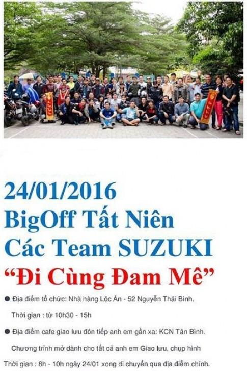 """Đại hội Big Off Tất Niên Suzuki Miền Nam 2016 """"Đi Cùng Đam Mê"""" sắp diễn ra"""