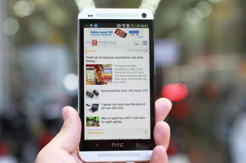 'Đập hộp' HTC One bản thương mại vừa về VN