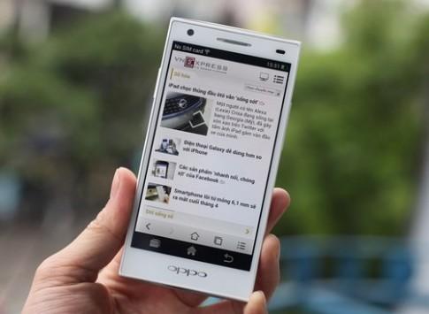 'Đập hộp' Oppo Find Way có camera trước 5 megapixel