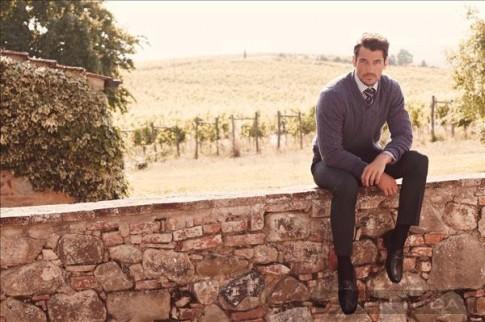 David Gandy nam tính và quyến rũ với trang phục thu đông Marks