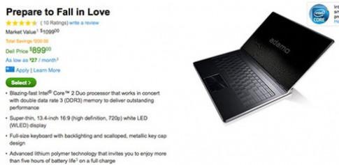 Dell Adamo hạ giá hơn 1.000 USD