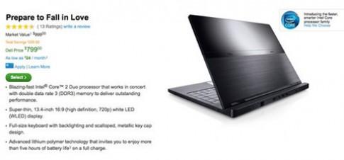 Dell 'lưỡng lự' về giá của Adamo