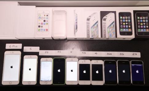 Điểm hiệu năng iPhone 6 gấp 20 lần iPhone 3GS