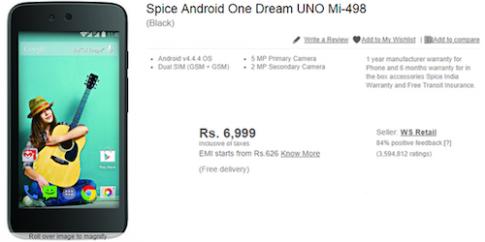 Điện thoại Android One đầu tiên có giá khoảng 2,5 triệu đồng