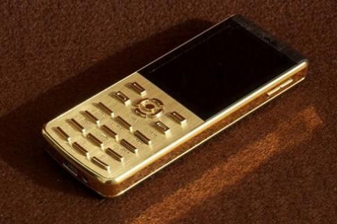 Điện thoại dát vàng 'mặc áo' da cao cấp