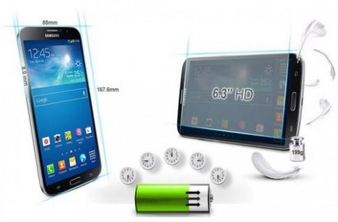 Điện thoại Galaxy Mega 6,3 inch có pin ấn tượng