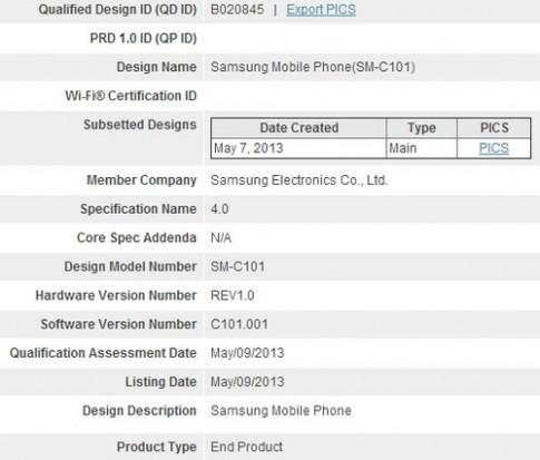 Điện thoại Galaxy S4 Zoom camera 16 'chấm' để lộ thông tin