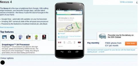 Điện thoại LG Nexus 4 có giá hơn 600 USD