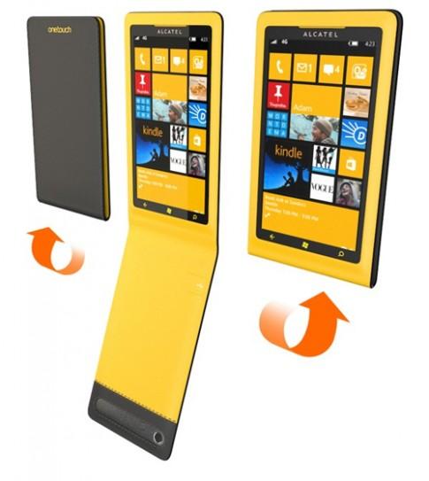 Điện thoại Windows Phone 8 Unicorn xoay gập