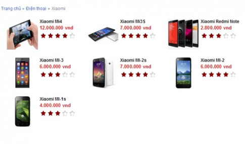 Điện thoại Xiaomi bị nghi gián điệp đang bán rộng rãi ở VN