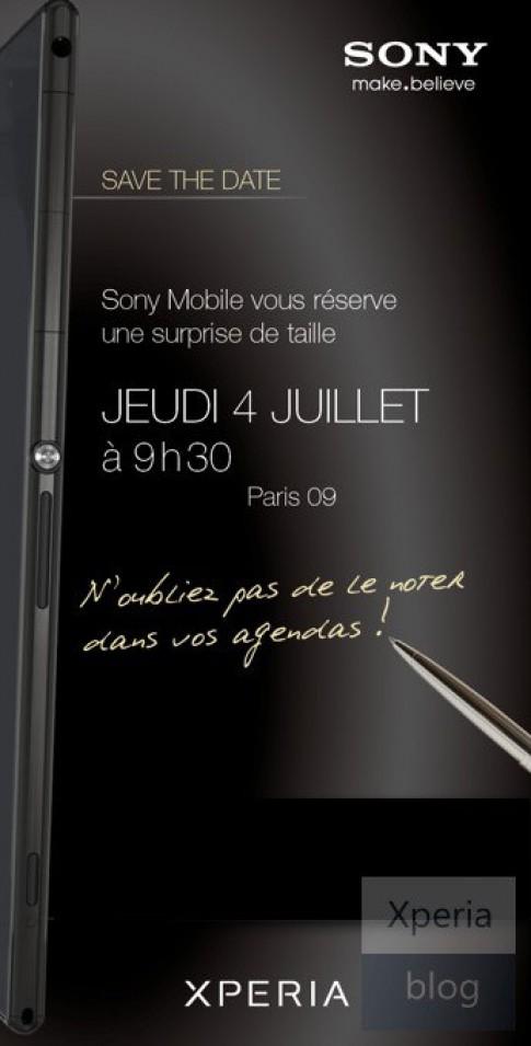 Điện thoại Xperia 'khủng' xuất hiện ở thư mời sự kiện của Sony