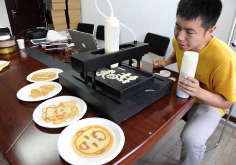 Dùng iPad để làm bánh