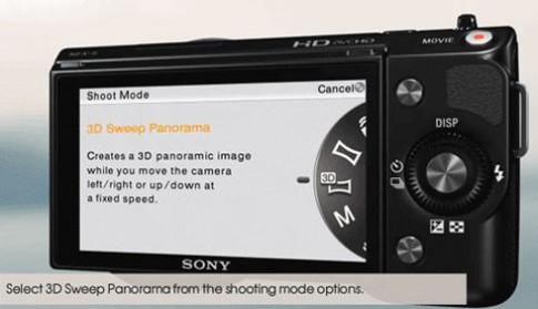 Firmware mới giúp Sony NEX chụp ảnh 3D